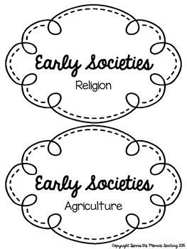Grade 4 Early Societies Unit BUNDLE