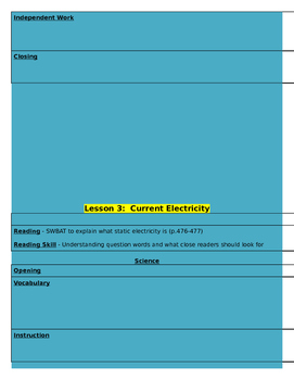 Grade 4: Electricity Lesson Bundle and Bulletin Board Piece