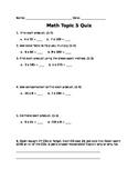 Grade 4 EnVision - Topic 5 Quiz