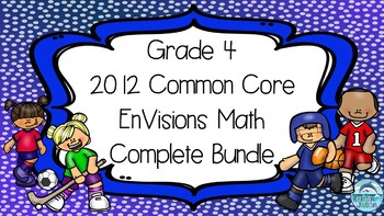 Grade 4 EnVisions Math Common Core Complete Topic 1-16 Power Point Lesson BUNDLE