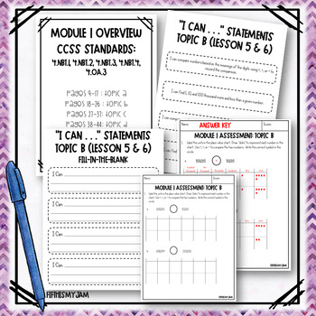Grade 4 EngageNY Math Module 1 Topic Assessments