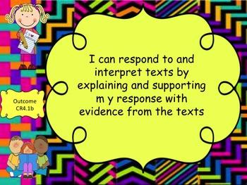 Grade 4 English Language Arts I Can Statements Bundle