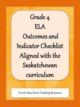 Grade 4 English Language Arts Outcome Indicators Checklist