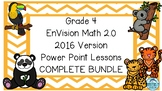 Grade 4 Envisions Math 2.0 Inspired COMPLETE Topics 1-16 Power Point Lessons