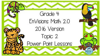 Grade 4 Envisions Math 2.0 Version 2016 Topic 2 Inspired Power Point Lessons