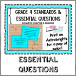 Grade 4 Essential Questions and Standards - Go Math Aligned