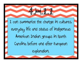 """Grade 4 Essential Standards """"I Can"""" Posters - Social Studies"""