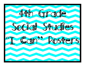 "Grade 4 Essential Standards ""I Can"" Posters - Social Studies"