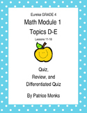 Grade 4 Eureka Math Module 1 Lessons 11-18 QUIZ, REVIEW, a