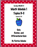 Grade 4 Eureka Math Module 1 Lessons 5-10 QUIZ, REVIEW, an