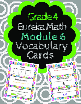 Grade 4 Math Module 6 Vocabulary Cards