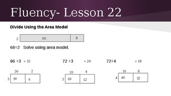 Grade 4 Eureka Math fluency power point Module 3 Lesson 22