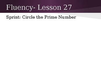 Grade 4 Eureka Math fluency power point Module 3 Lesson 27