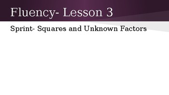 Grade 4 Eureka Math fluency power point Module 3 Lesson 3