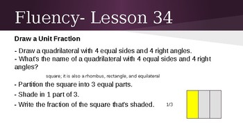 Grade 4 Eureka Math fluency power point Module 3 Lesson 34