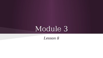 Grade 4 Eureka Math fluency power point Module 3 Lesson 8