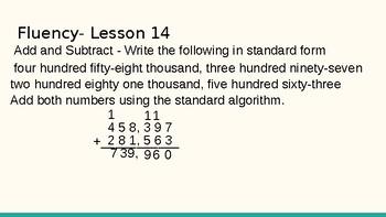 Grade 4 Eureka Math fluency power point Module 5 Lesson 14