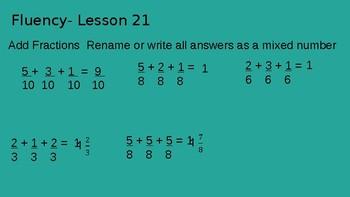 Grade 4 Eureka Math fluency power point Module 5 Lesson 21