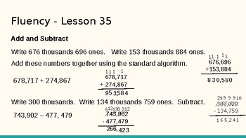 Grade 4 Eureka Math fluency power point Module 5 Lesson 35