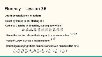 Grade 4 Eureka Math fluency power point Module 5 Lesson 36