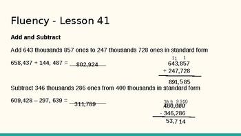 Grade 4 Eureka Math fluency power point Module 5 Lesson 41