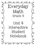 Grade 4 Everyday Math Unit 4 Interactive Notebook
