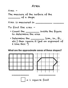 Grade 4 Everyday Math Unit 8 Interactive Notebook