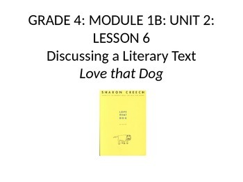 Grade 4 Expeditionary Learning Unit 1 B, Module 2, Lessons 6 & 7