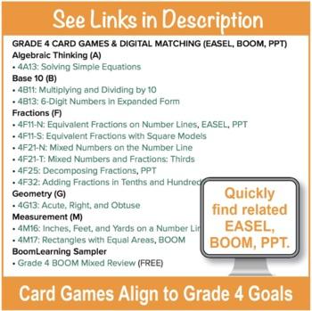 Grade 4 FREE Checklist of Math Goals for Common Core