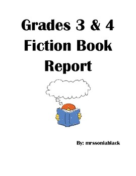 Grade 4 Fiction Book Report