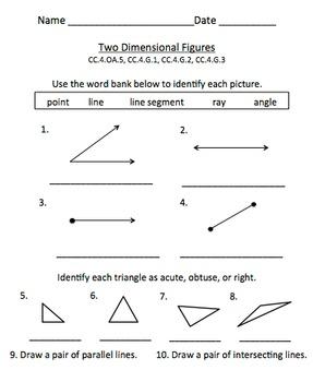 Geometry Test: 2D Figures (Grade 4)