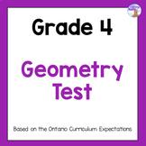Grade 4 Geometry Test