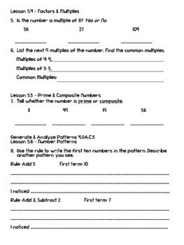 Grade 4 Go Math! Chapter 5 Test