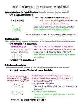 Grade 4 Go Math Chapter 6 Reference/Review Sheet