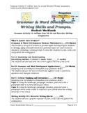 Grade 4+ Grammar Activity 19: suffixes  and Narrative Writing
