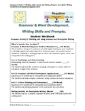 Grade 4+ Grammar Activity 3: Working with commas, & Descri