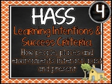 Grade 4 HASS – Aus curric Learning INTENTIONS & Success Criteria Posters.