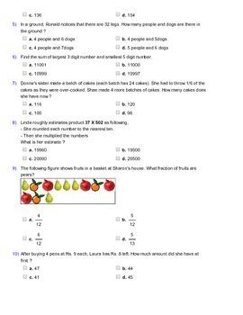 Grade 4 HOTS, Mathematical Olympiad, IMO, AMC Worksheet