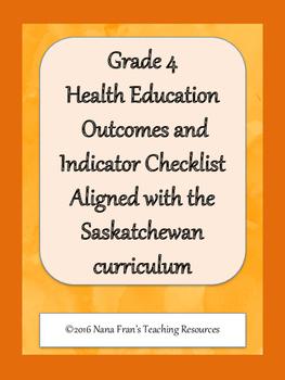 Grade 4 Health Outcome Indicators Checklist