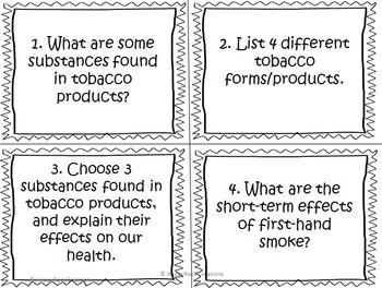 Grade 4 Health Task Cards Bundle