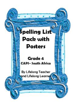 Grade 4 Home Language- Spelling