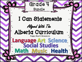 Grade 4 I Can Statements - Alberta Bundle