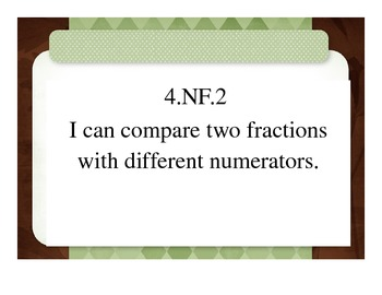 Grade 4 I Can Statements Number and Operations - Fractions