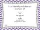 "Grade 4 ""I can"" MATH Learning Target Printables - Purple Chevron"