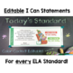 Common Core Standards I Can Statements for 4th Grade ELA