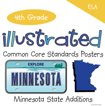 Common Core Standards I Can Statements for 4th Grade ELA - Minnesota Additions