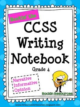 Grade 4 Interactive Writing Notebook Common Core Aligned