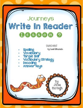 Grade 4: Journeys Write In Reader Lesson 9
