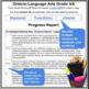 Report Card Comments - Ontario Grade 3 and Grade 4 Language Arts - EDITABLE