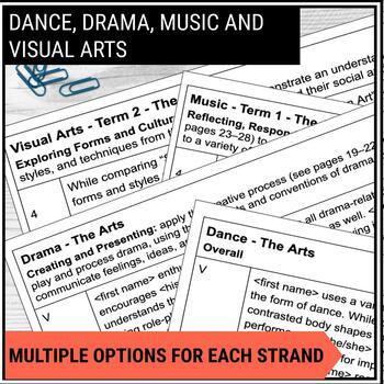 Report Card Comments - Ontario Grade 4 Arts - EDITABLE